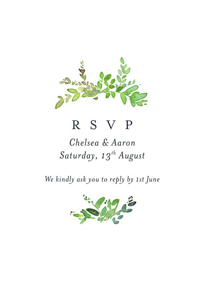 RSVP Cards Canopy green finition