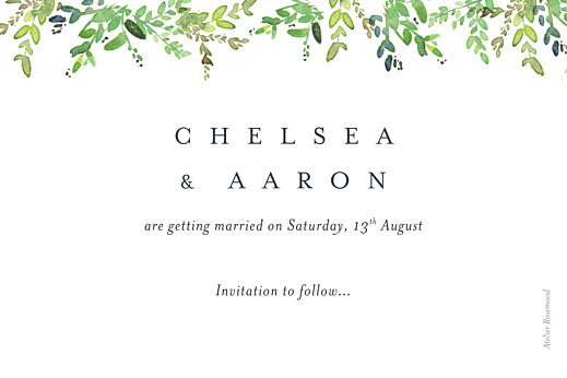 Save The Date Cards Canopy green - Page 2