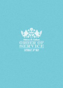 Order of Service Booklets Papel picado blue