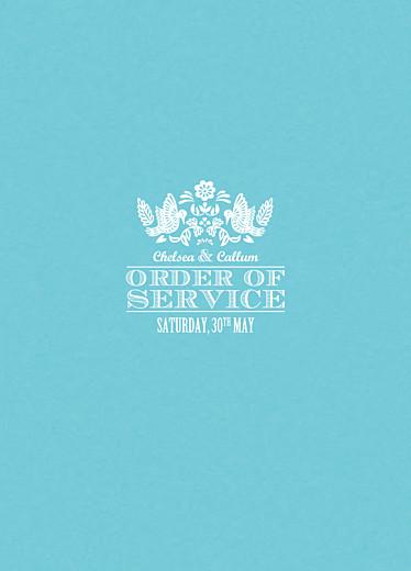 Wedding Order of Service Booklets Papel picado blue
