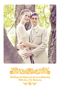 Wedding Thank You Cards Papel picado yellow