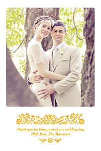 Papel picado yellow yellow wedding thank you cards