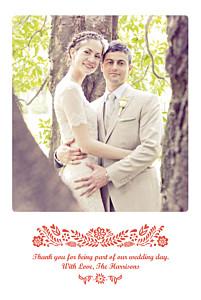 Wedding Thank You Cards Papel picado red