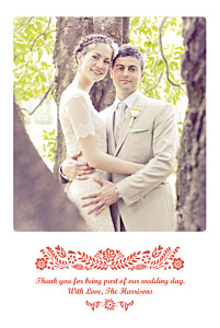 Papel picado red red wedding thank you cards