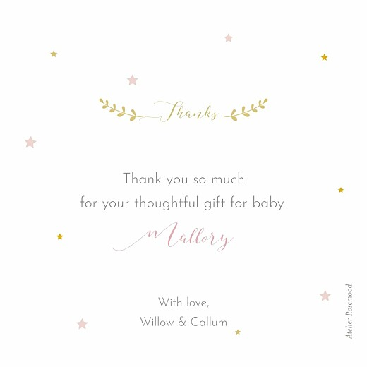 Baby Thank You Cards Little stars photo pink - Page 2