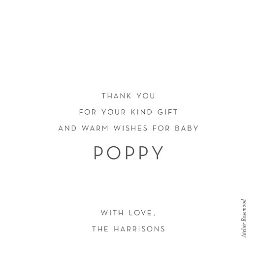 Baby Thank You Cards Lovely heart (foil) white - Page 2