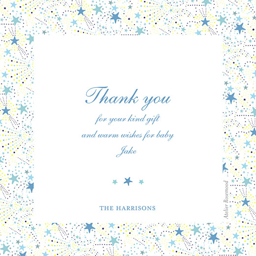 Baby Thank You Cards Liberty stars photo blue - Page 2