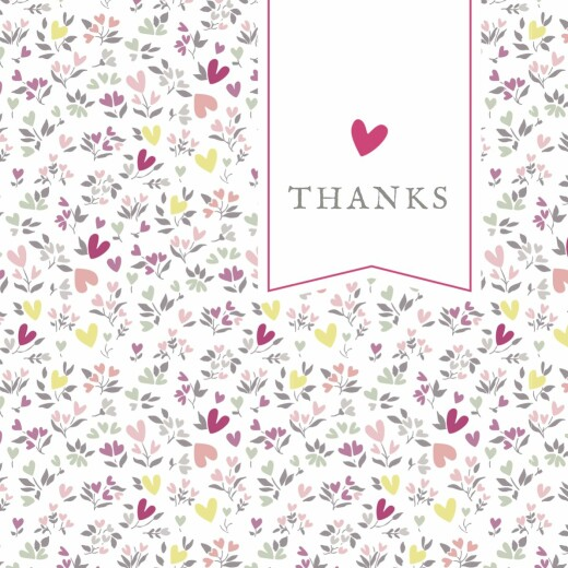 Baby Thank You Cards Liberty heart photo