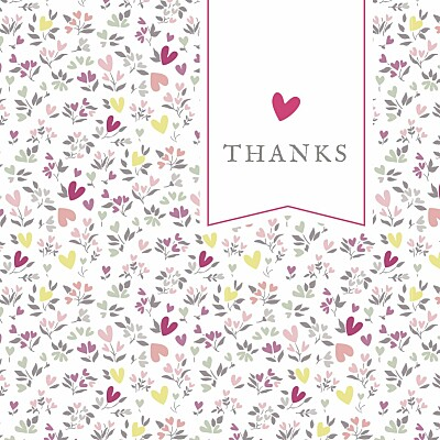 Baby Thank You Cards Liberty heart photo finition