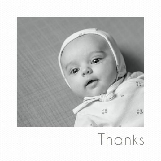 Baby Thank You Cards Mini polaroid white