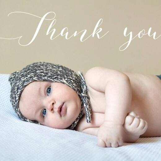 Baby Thank You Cards Big thanks photo bottom