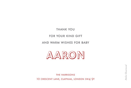 Baby Thank You Cards One and only landscape white - Page 2