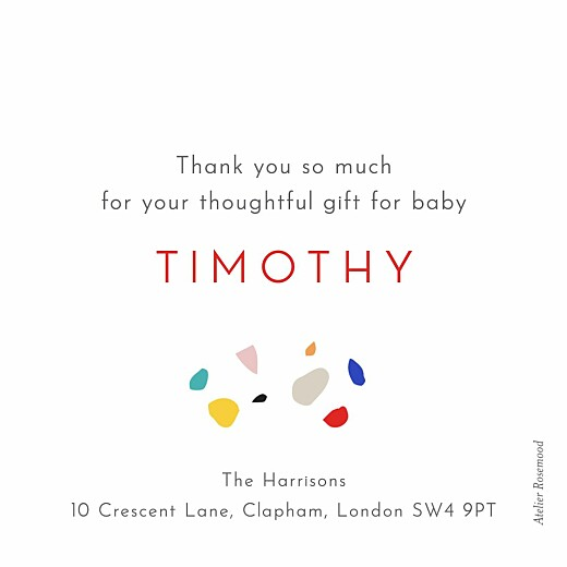 Baby Thank You Cards Terrazzo dark - Page 2