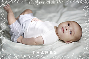 My little treasure kraft brown baby thank you cards