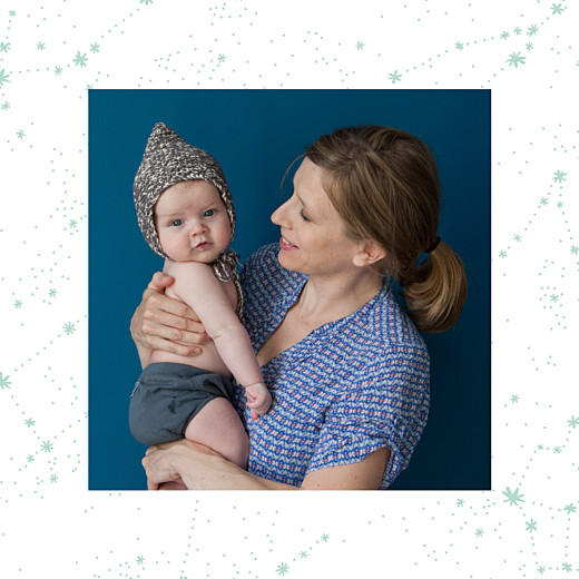 Baby Thank You Cards Constellations photo midnight blue