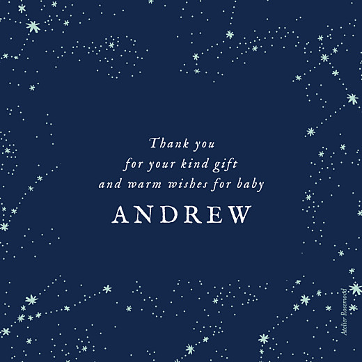Baby Thank You Cards Constellations photo midnight blue - Page 2