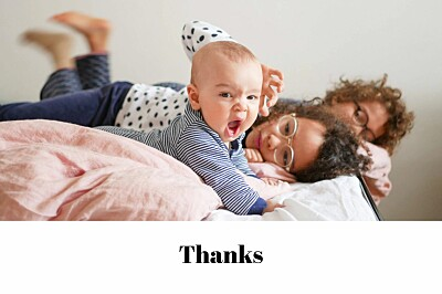 Baby Thank You Cards Chic landscape white finition