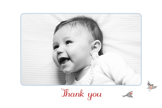 Baby Thank You Cards Winter storybook photo blue