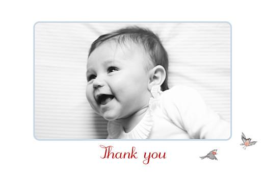 婴儿感谢卡冬故事书的照片蓝色