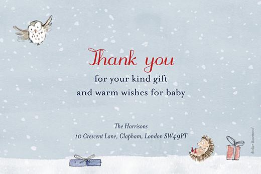 婴儿感谢卡冬季童话故事的照片蓝色 - 第2页