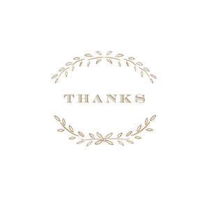 Baby Thank You Cards Poem kraft