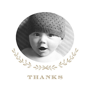 Poem photo kraft brown baby thank you cards