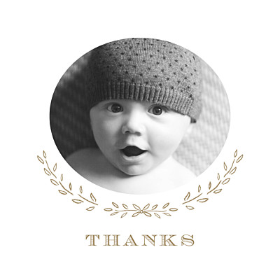 Baby Thank You Cards Poem photo kraft finition
