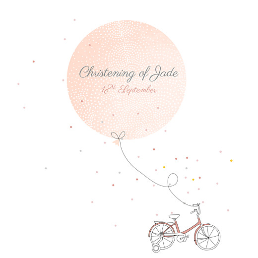 Christening Invitations Little bicycle pink