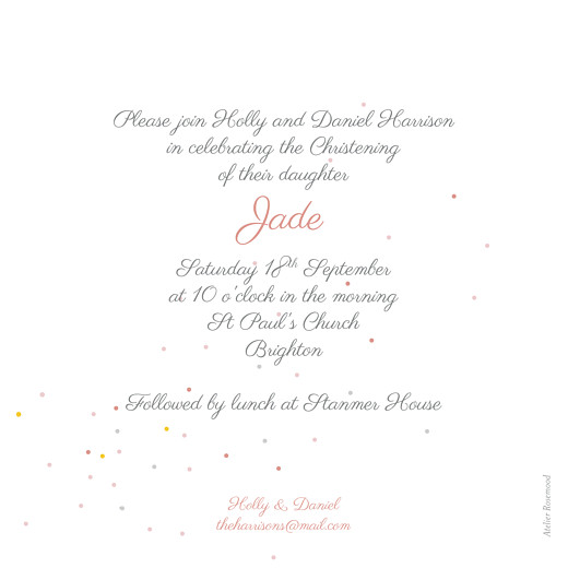 Christening Invitations Little bicycle pink - Page 2