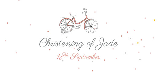Christening Gift Tags Little bicycle pink