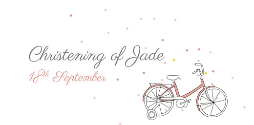 Christening Place Cards Little bicycle pink - Page 4