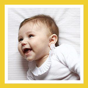 Christening citrons yellow baby thank you cards