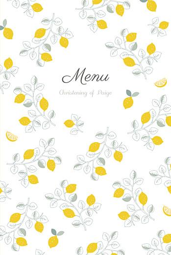 Christening Menus Citrons yellow