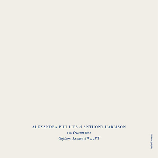 Wedding Invitations Natural chic 4 pages (foil) blue - Page 4