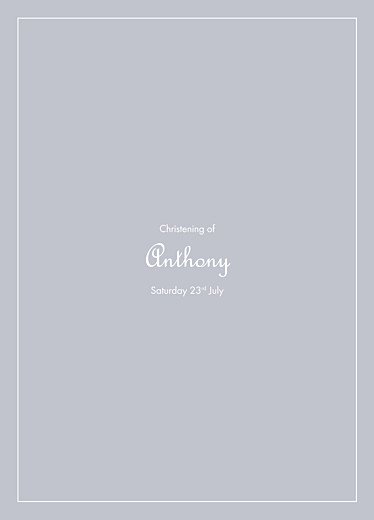 Christening Order of Service Booklets Classic border grey