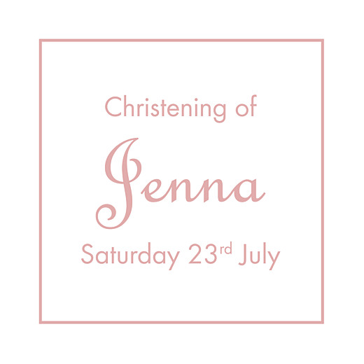 Christening Gift Tags Classic border old pink