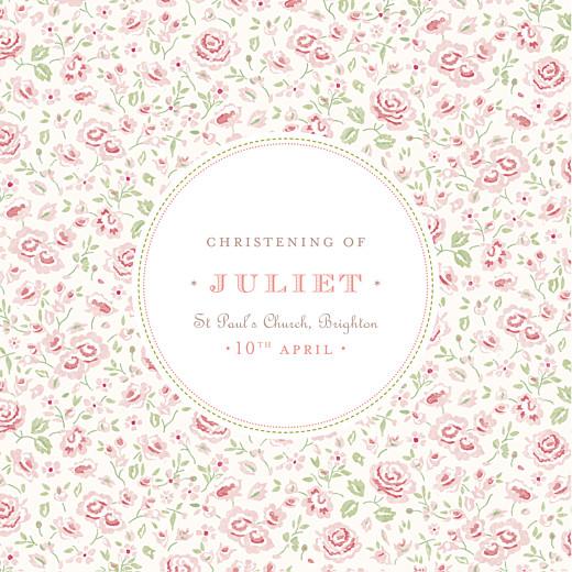 Christening Invitations Felicity pink
