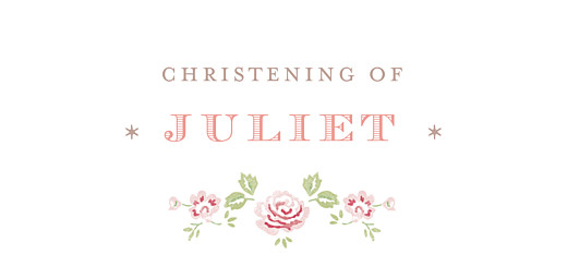 Christening Place Cards Felicity pink
