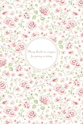 Christening Menus Felicity pink