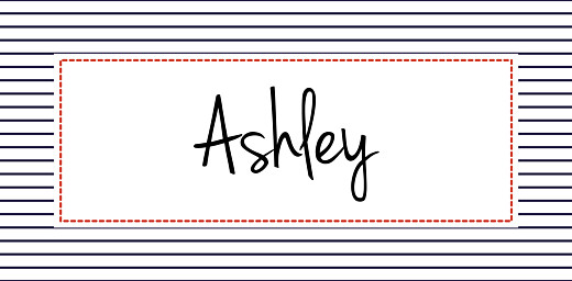 Christening Place Cards Little sailor red