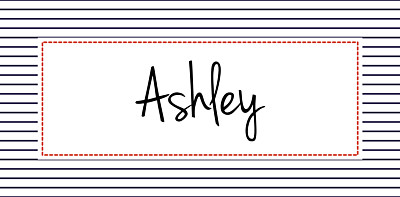 Christening Place Cards Little sailor red finition