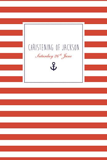 Christening Menus Little sailor red