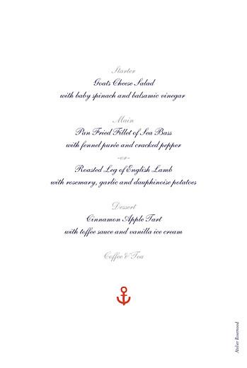 Christening Menus Little sailor red - Page 2