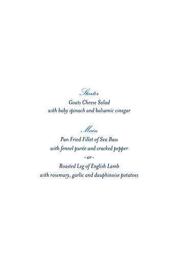 Christening Menus Forest whisper green - Page 2