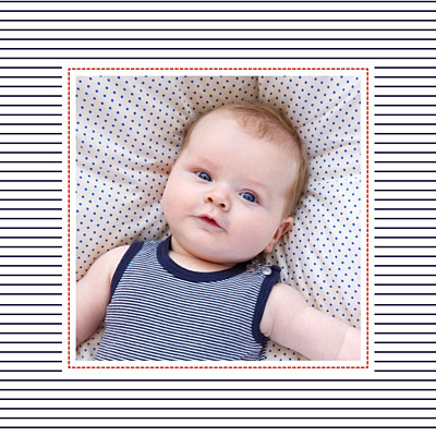 Baby Thank You Cards Little sailor photo blue finition