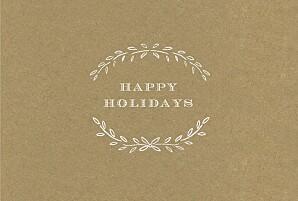 Poem landscape kraft brown christmas cards