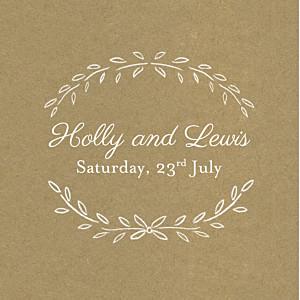 Poem kraft brown wedding gift tags