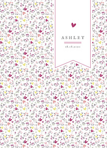 Liberty heart plum christening order of service booklets