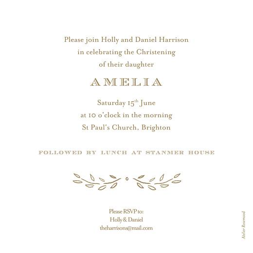 Christening Invitations Poem kraft - Page 2