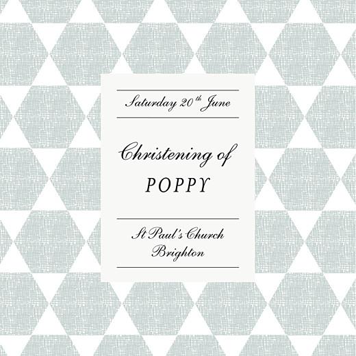 Christening Invitations Lovely linen blue